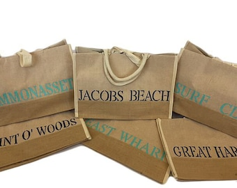 Hand Painted Beach Tote or Coordinates Tote