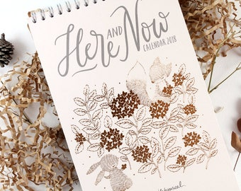 50% OFF - Calendar 2018 - Here and Now