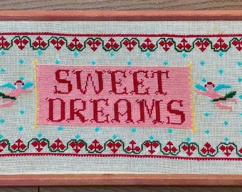 Sweet as can be needlepoint wall hanging