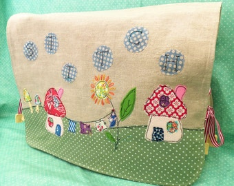 "Stitch"" Applique Sewing Machine Cover pdf pattern"