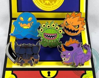 Final Fantasy Monster Enamel Pins - Marlboro Behemoth Flan Bomb Iron Giant