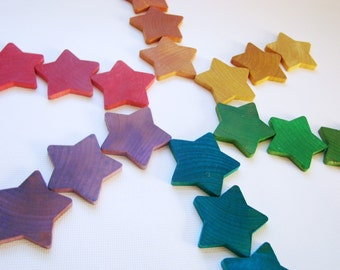 Counting Stars - A Montessori and Waldorf Inspired Wooden Counting and Learning Toy