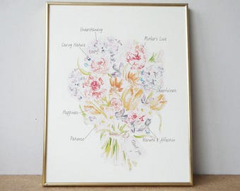 A Meaningful Bouquet - Print