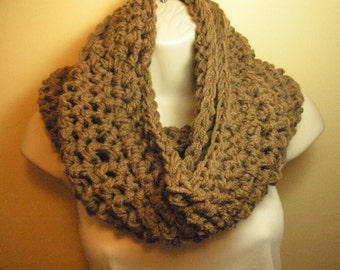 Cafe Latte Cowl Infinity Circle Scarf Neckwarmer