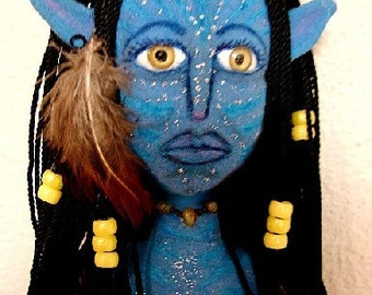Avatar Art Doll-Neytiti Na'vi OOAK  (Take Orders to create similar doll)