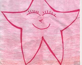 Red Pink Starfish T-shirt Transfer