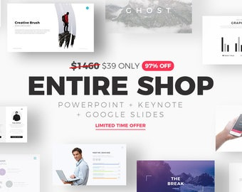 ENTIRE SHOP - Powerpoint Templates, Keynote Templates, Google Slides Themes - 97% OFF