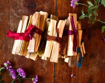Palo Santo Smudging Incense Wood One Oz Bundle Sacred South American Incense Fragrant Cleansing Smudge Stick Holy Wood