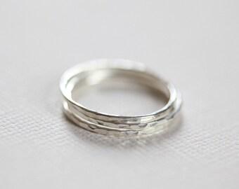 sterling silver stacking rings, skinny rings, dainty rings - set of 3 stackable rings