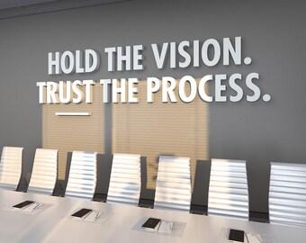 Trust The Process, Office Design, 3D, Office Decor, Office Wall Art, Office, Quote, Wall Art, Office Art, Quotes, Wall Decor - SKU:TTP