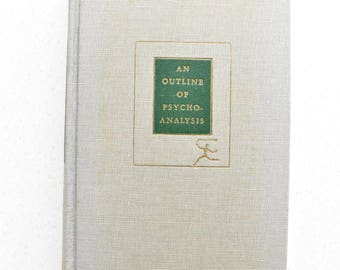 An Outline of Psychoanalysis 1925 Hardcover Vintage Modern Library Psychology Freud