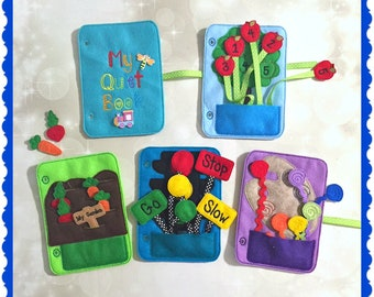 Quiet Book - starter kit - Busy Book - Pre School Learning - Activity Book - Toddler Learning - Kids Activity Pages - Felt Toys - Learning T