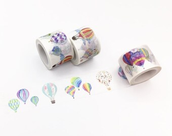 Colorful Hot Air Balloon Washi Tape