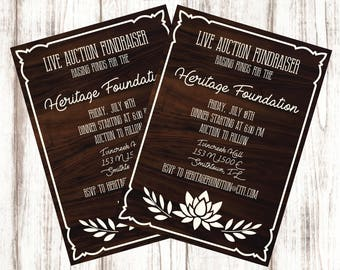 Fundraiser Flyer/ Auction Event / Live Auction / Invitation / Invite / Handout / Printable / Digital Download