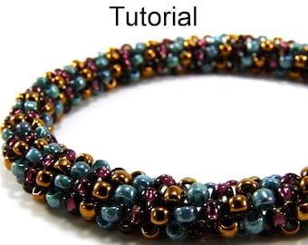 Easy Beginner Beading Patterns - Tubular Peyote Jewelry Making Tutorials - Seed Beads - PDF - Simple Bead Patterns - Twist & Shout #394
