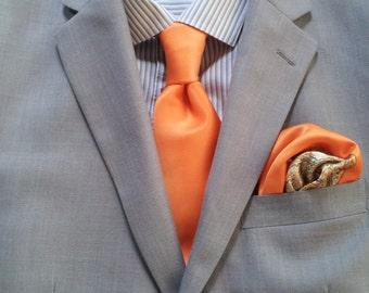 Orange Satin Tie