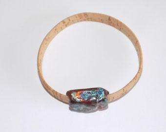 Cork and Clay - a bangle bracelet