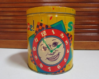 """Vntg Chex Mix """"Snack Time"""" Decorative Tin"""