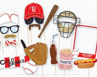 Baseball Photo Booth Props, Sports Photobooth Props, Vintage Baseball Party, Home Run, Baseball Birthday, Sports Party, Sports Birthday Ball