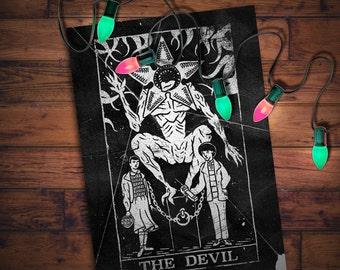 The Devil  (Stranger Things tarot card print)