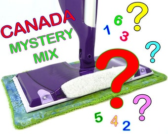 1 to 8 CANADA only, Reusable Swiffer Wet Jet pads, MYSTERY MIX Variety Value Pack, EcoSwift Pads EcoGreen Pads Detroit Knitter Swifter Pads
