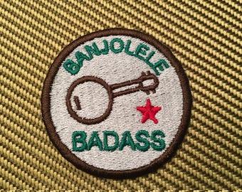 Banjolele Badass Merit Badge - Embroidered