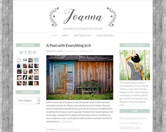 Wordpress Theme - Wordpress Blog Theme - Wordpress Template - Genesis Child Theme StudioPress