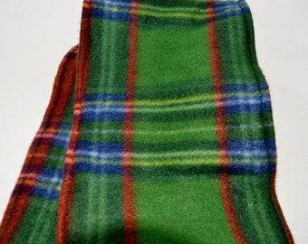 Green Plaid Fleece Scarf