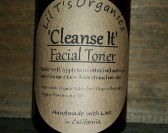 Organic facial toner - gentle toner - face toner