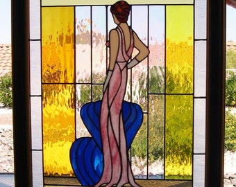 Stained Glass Lady in Waiting  (745)