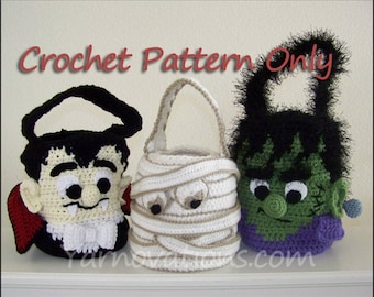 Halloween Treat Bags Crochet Pattern