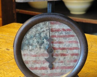 Americana Vintage Kitchen Scale Handpainted | Old Kitchen Scale | Antique Kitchen Scale | Primitive Scale