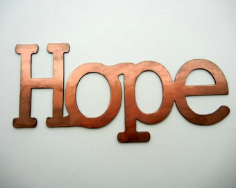 Hope, Metal Word Art