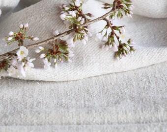 F 395: antique, handloomed, pâle naturel, trapu, sac de grain pour les chemins de coussins oreillers, 40,16 lin longue, vintage, ancienne toile de lin,