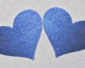 Shiny Metallic Periwinkle Heart Stickers