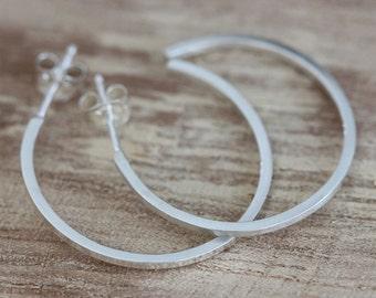 Hoop Earrings, Hoop Earrings Silver, Minimalist Jewelry, Silver Hoops, Silver Earrings, Minimalist Earrings, Minimalist Design, Open Hoops