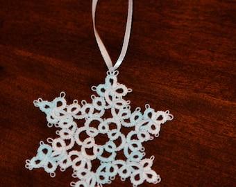 Hand Frivolité Schneeflocke Ornament Urlaub Dekoration Weihnachtsgeschenk
