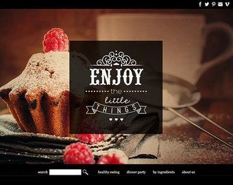 benutzerdefinierte Wordpress Website-Gestaltung benutzerdefinierte Restaurant Webdesign vorgefertigte Website Vorlage Wordpress Thema Anpassung benutzerdefinierte Website-design