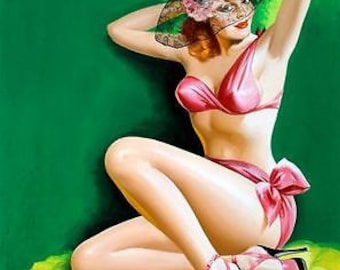 1950's Vintage Pin-Up Girl 10 Poster A3 / A2 Print