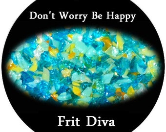Don't Worry Be Happy ~ Lampworking Frit ~ Frit Diva Sale