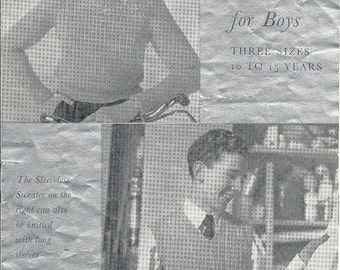 P&B 531 Vintage Knitting Pattern Original Sweaters and Vests for Boys