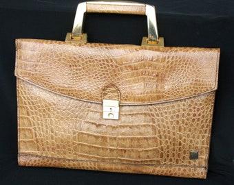 Italian croc-imitation handbag (vintage)