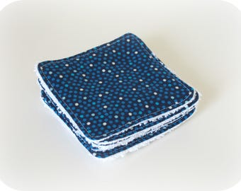 Washable cotton with dots and white Terry cloth