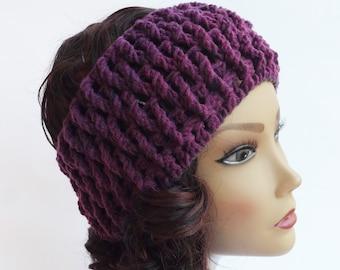 FREE SHIPPING Crochet headband women, Knit Warm Headband, Ear Warmer, Chunky Headband, Head Wrap, Women's Winter Headband, Gift For Her