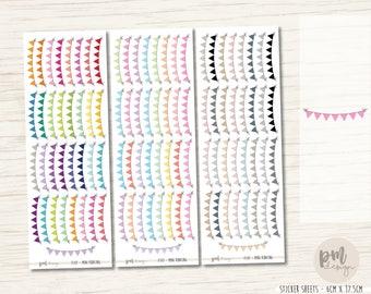 Mini Bunting Stickers - Planner Stickers - FS47