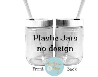 Plastic Mason Jars, Mason Jars with lids, Plastic Mason Cups, Wedding Favors, Mason Jar Favors, Rustic Weddings, Bulk Plastic Mason Jars