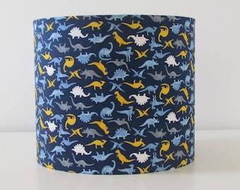 NEW Handmade Navy Blue Tossed Dinosaur Lampshade Lightshade Boys Childrens Nursery