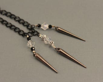 Black Chain with Decorative Spikes