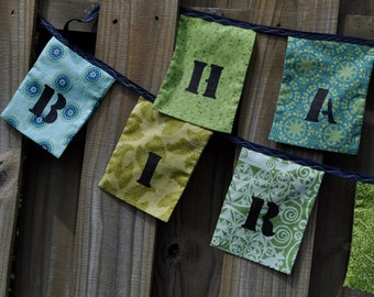 ON SALE!  Fabric Happy Birthday Garland/Bunting