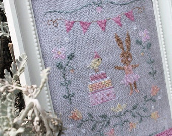 SWEET & SUGAR - official printed cross stitch pattern, beautiful, sampler, primitive, embroidery, broderie